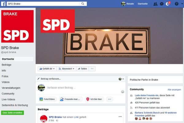 SPD-Brake auf Facebook