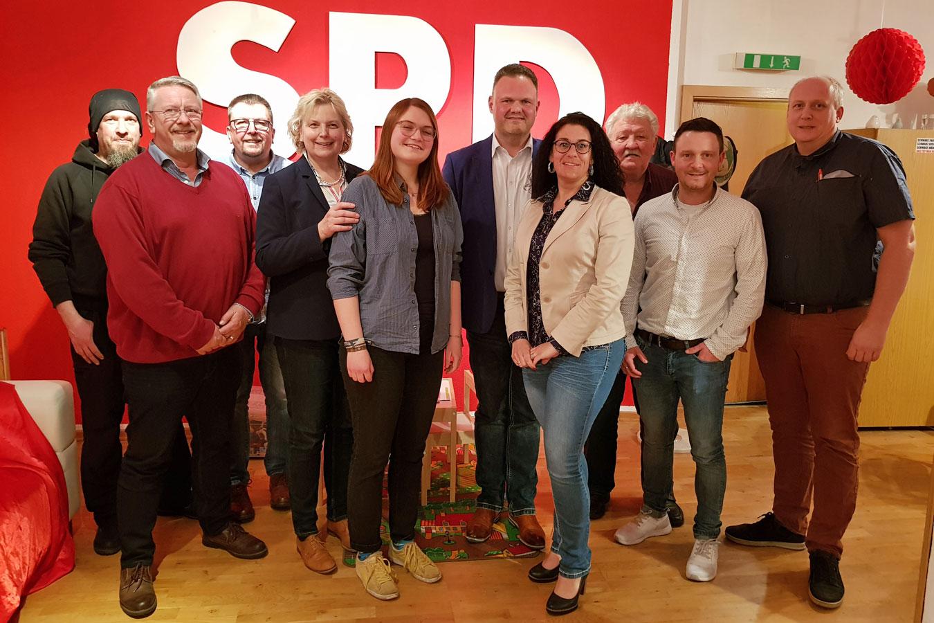 Der Vorstand des SPD-Ortsvereins Brake